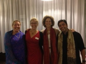 Colleen Kohlsaat, Jamila Haider, Momma and Karan Khosla, celebrating Balaton 2012